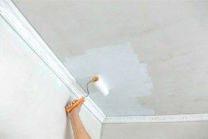 Как правильно побелить потолок – наносим побелку