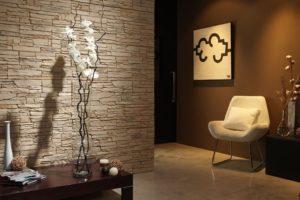 Декоративный искусственный камень для внутренней отделки в коридоре и прихожей