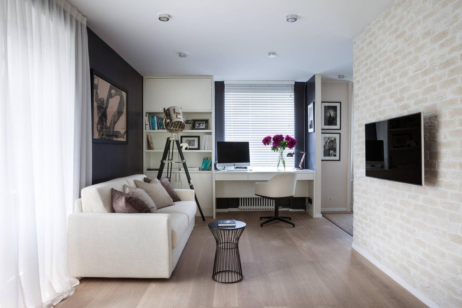 Дизайн 2х комнатной хрущевки с проходной комнатой