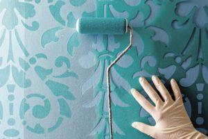 Трафареты для декоративной штукатурки стен: как сделать по шаблону, технология нанесения рисунка
