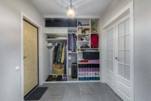 Встроенный шкаф-купе в прихожую: фото идей дизайна, наполнение