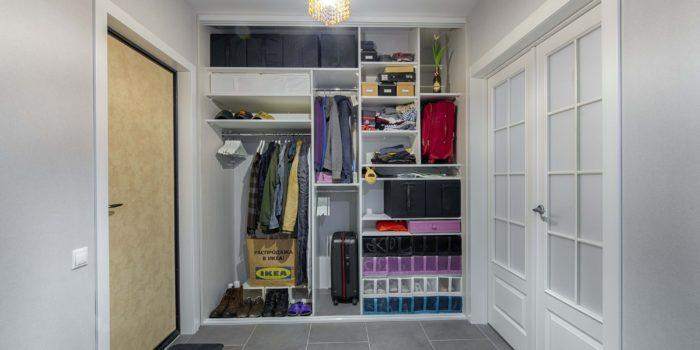Встроенный шкаф-купе в прихожую внутреннее наполнение